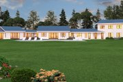 Ranch Style House Plan - 3 Beds 3.5 Baths 3599 Sq/Ft Plan #888-11 Exterior - Rear Elevation