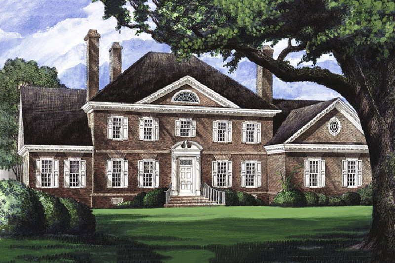 Southern Exterior - Front Elevation Plan #137-170 - Houseplans.com