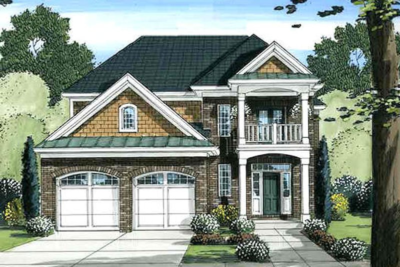 Traditional Exterior - Front Elevation Plan #46-493 - Houseplans.com