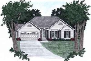 Architectural House Design - Traditional Exterior - Front Elevation Plan #129-110