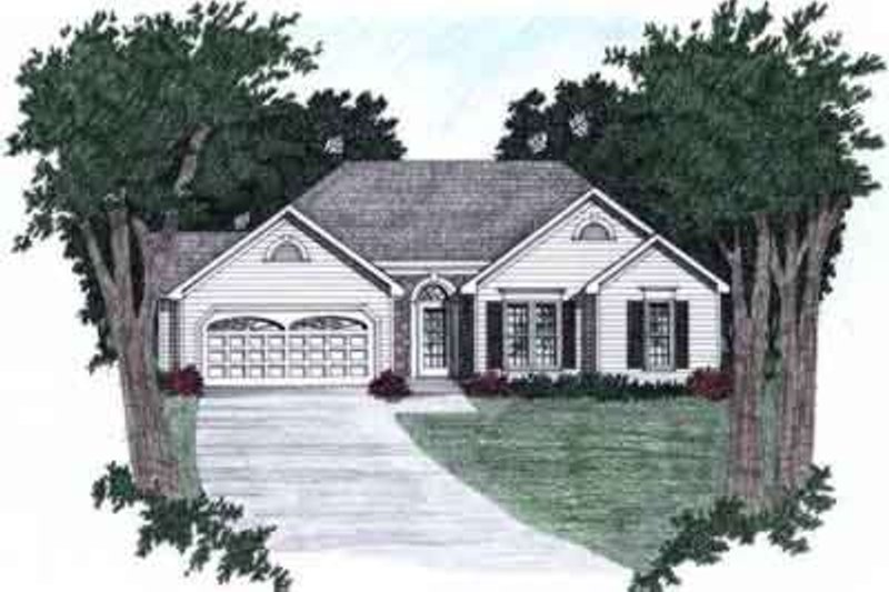 Traditional Style House Plan - 3 Beds 2 Baths 1358 Sq/Ft Plan #129-110