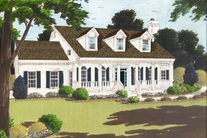 Colonial Exterior - Front Elevation Plan #3-237