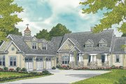 Craftsman Style House Plan - 4 Beds 4.5 Baths 3754 Sq/Ft Plan #453-58 Exterior - Front Elevation