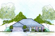Traditional Style House Plan - 3 Beds 2 Baths 1354 Sq/Ft Plan #36-478 Exterior - Front Elevation