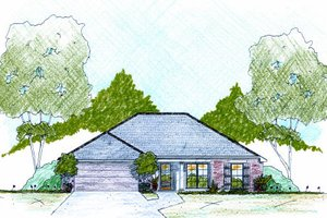 Traditional Exterior - Front Elevation Plan #36-478