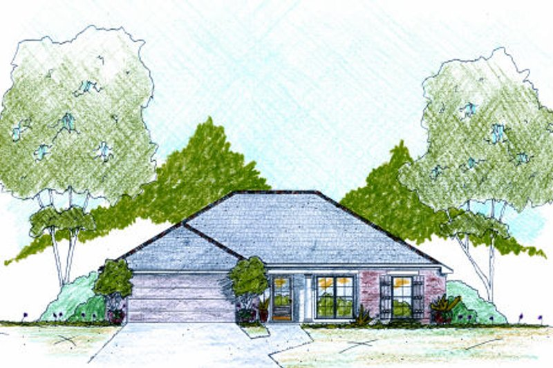 Dream House Plan - Traditional Exterior - Front Elevation Plan #36-478
