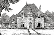 Home Plan - European Exterior - Other Elevation Plan #310-651