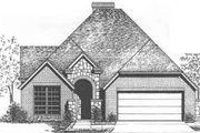 European Style House Plan - 2 Beds 2 Baths 1970 Sq/Ft Plan #310-482 Exterior - Front Elevation
