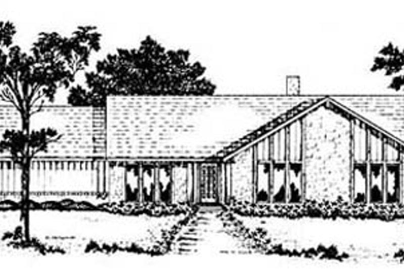Home Plan Design - Modern Exterior - Front Elevation Plan #36-168
