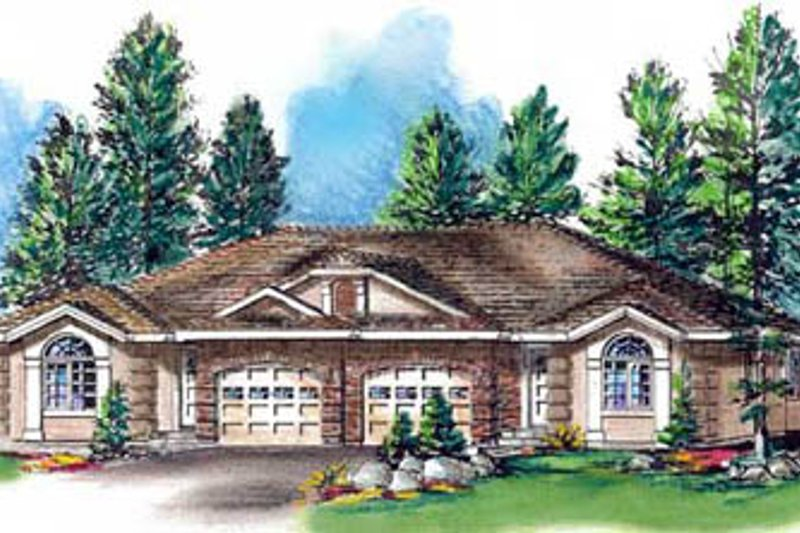 European Style House Plan - 3 Beds 2 Baths 2448 Sq/Ft Plan #18-187 Exterior - Front Elevation