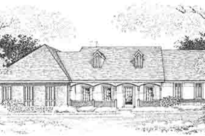 Dream House Plan - Southern Exterior - Front Elevation Plan #45-284