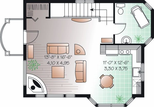 Traditional Floor Plan - Upper Floor Plan Plan #23-874