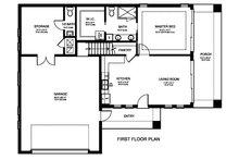 Ranch Floor Plan - Main Floor Plan Plan #1058-179