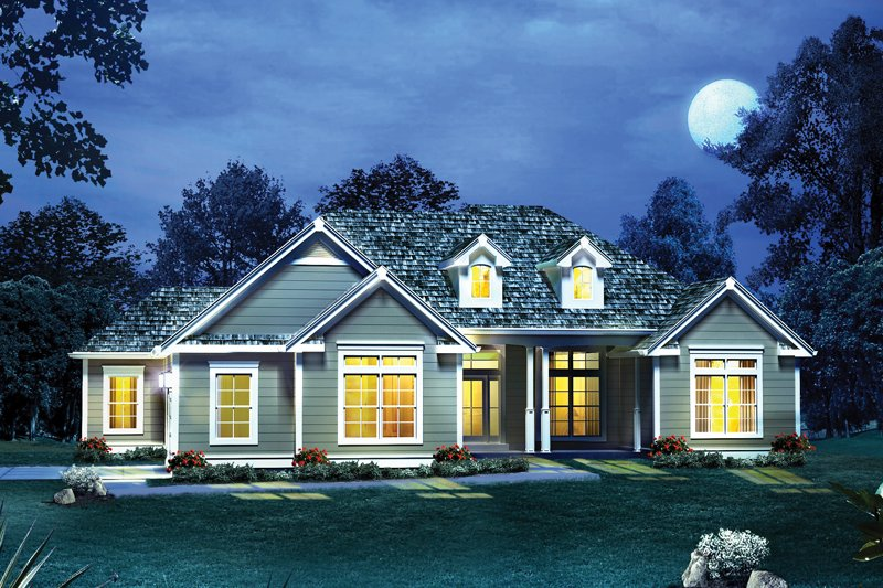 Traditional Exterior - Front Elevation Plan #57-608 - Houseplans.com