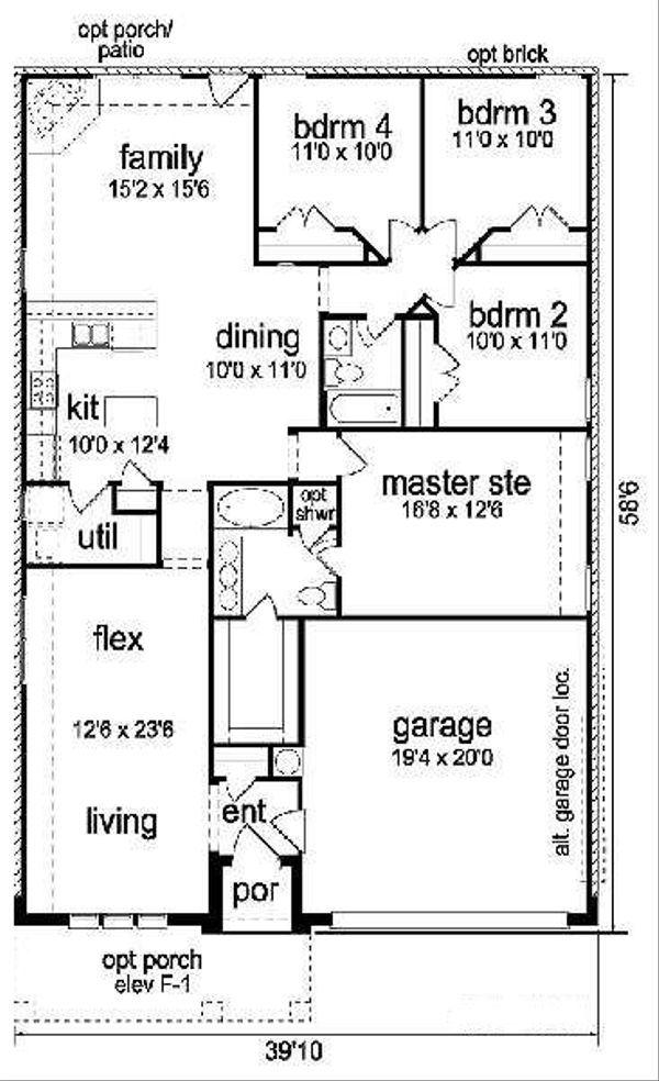 Cottage Floor Plan - Main Floor Plan Plan #84-267