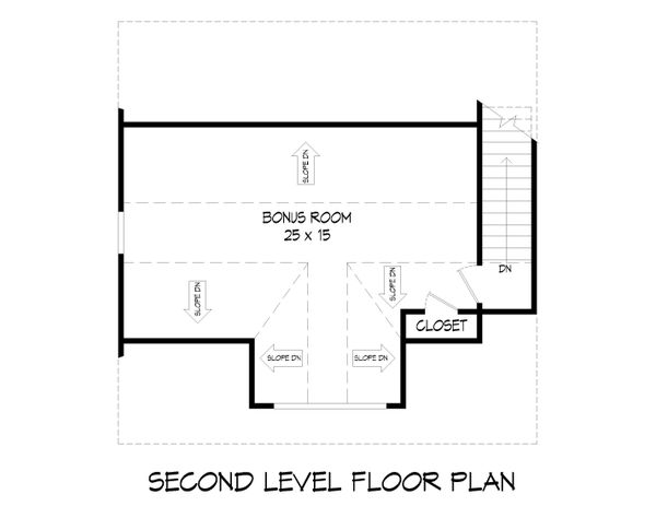 Architectural House Design - Farmhouse Floor Plan - Upper Floor Plan #932-388