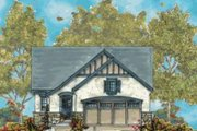 Tudor Style House Plan - 2 Beds 2 Baths 1469 Sq/Ft Plan #20-1668 Exterior - Front Elevation