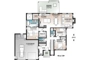 Contemporary Style House Plan - 3 Beds 2 Baths 1704 Sq/Ft Plan #23-2726