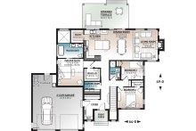 Contemporary Floor Plan - Main Floor Plan Plan #23-2726