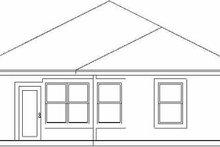 Cottage Exterior - Rear Elevation Plan #84-102
