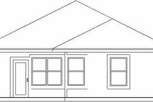 Cottage Exterior - Rear Elevation Plan #84-102