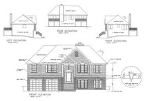 Architectural House Design - Traditional Exterior - Rear Elevation Plan #56-119