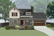 Country Style House Plan - 4 Beds 2.5 Baths 1367 Sq/Ft Plan #79-180 Exterior - Front Elevation