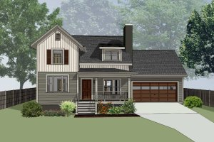Country Exterior - Front Elevation Plan #79-180
