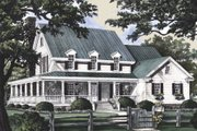 Country Style House Plan - 4 Beds 3.5 Baths 2910 Sq/Ft Plan #137-216 Exterior - Front Elevation