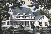 Country Exterior - Front Elevation Plan #137-216