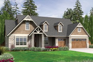 Craftsman Exterior - Front Elevation Plan #48-540