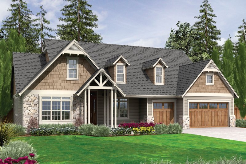 Craftsman Style House Plan - 3 Beds 2.5 Baths 2591 Sq/Ft Plan #48-540 Exterior - Front Elevation