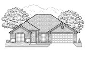 Traditional Style House Plan - 4 Beds 2 Baths 1845 Sq/Ft Plan #65-403 Exterior - Front Elevation
