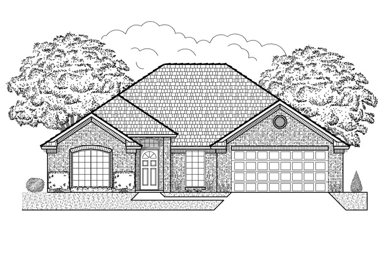Traditional Style House Plan - 4 Beds 2 Baths 1845 Sq/Ft Plan #65-403