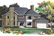 European Style House Plan - 4 Beds 2.5 Baths 2732 Sq/Ft Plan #72-377 Exterior - Front Elevation