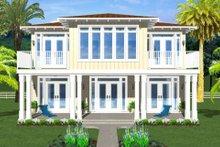 Beach Exterior - Rear Elevation Plan #126-154