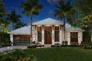 Contemporary Style House Plan - 3 Beds 3 Baths 2684 Sq/Ft Plan #27-551 Exterior - Front Elevation