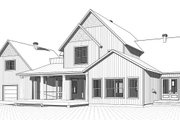 Farmhouse Style House Plan - 4 Beds 3.5 Baths 3532 Sq/Ft Plan #23-2687 Exterior - Rear Elevation