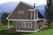Cabin Style House Plan - 3 Beds 2 Baths 1249 Sq/Ft Plan #126-188 Exterior - Rear Elevation