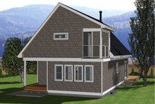 Cabin Exterior - Rear Elevation Plan #126-188
