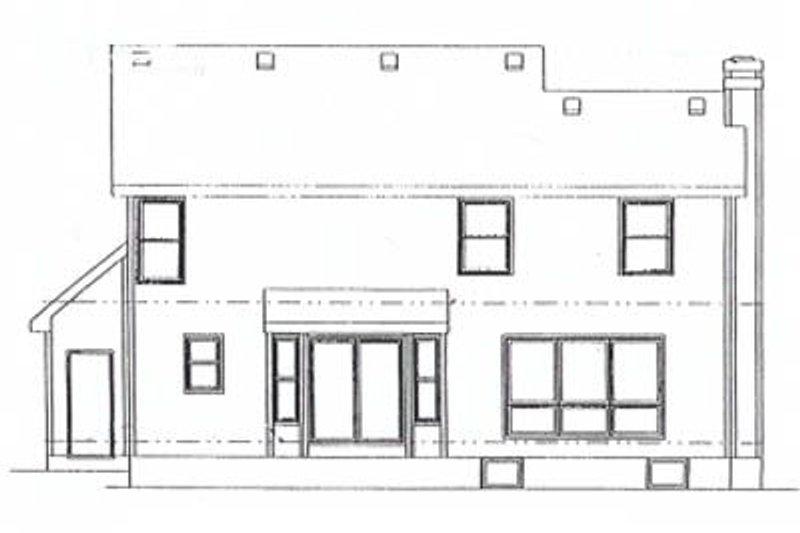 Traditional Exterior - Rear Elevation Plan #20-603 - Houseplans.com