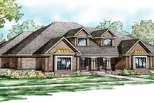 Dream House Plan - Traditional Exterior - Front Elevation Plan #124-829