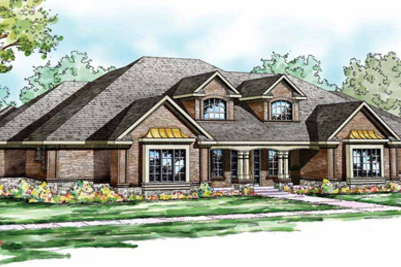 Traditional Exterior - Front Elevation Plan #124-829 - Houseplans.com