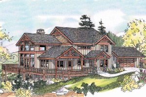 Dream House Plan - Craftsman Exterior - Front Elevation Plan #124-680