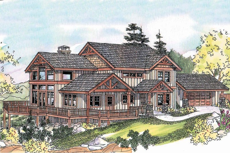 Craftsman Exterior - Front Elevation Plan #124-680 - Houseplans.com