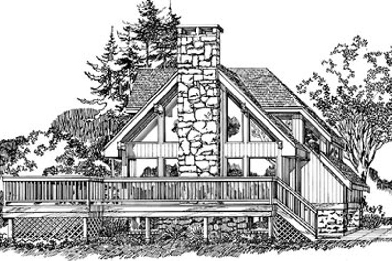 House Plan - 3 Beds 2 Baths 1622 Sq/Ft Plan #47-177 Exterior - Front Elevation