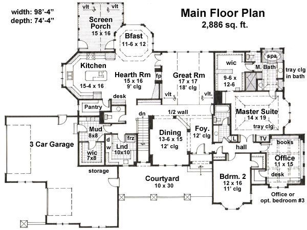 Floor Plan - Main Floor Plan Plan #51-531