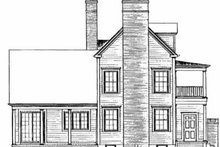 Southern Exterior - Rear Elevation Plan #72-357