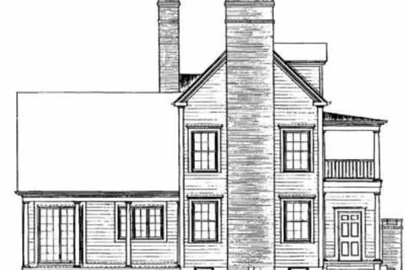 Southern Exterior - Rear Elevation Plan #72-357 - Houseplans.com