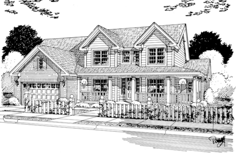 Country Exterior - Other Elevation Plan #513-2051 - Houseplans.com